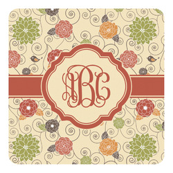 Fall Flowers Square Decal (Personalized)