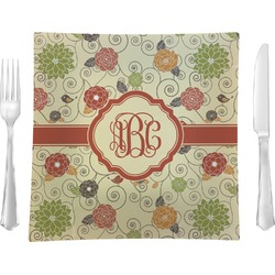 Fall Flowers Square Dinner Plate (Personalized)