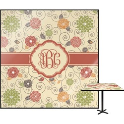 Fall Flowers Square Table Top (Personalized)