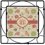Fall Flowers Square Trivet (Personalized)
