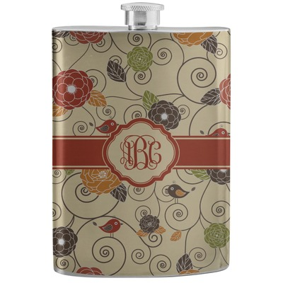 Fall Flowers Stainless Steel Flask (Personalized)