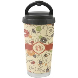 Fall Flowers Stainless Steel Travel Mug (Personalized)