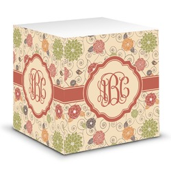 Fall Flowers Sticky Note Cube (Personalized)