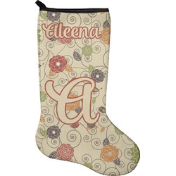 Fall Flowers Christmas Stocking - Neoprene (Personalized)