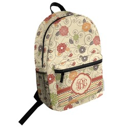 Fall Flowers Student Backpack (Personalized)