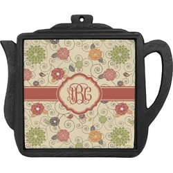 Fall Flowers Teapot Trivet (Personalized)
