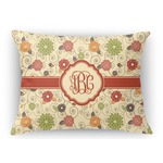 Fall Flowers Rectangular Throw Pillow (Personalized)