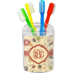 Fall Flowers Toothbrush Holder (Personalized)