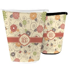 Fall Flowers Waste Basket (Personalized)