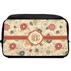Fall Flowers Toiletry Bag / Dopp Kit (Personalized)