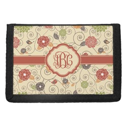 Fall Flowers Trifold Wallet (Personalized)