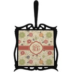 Fall Flowers Trivet with Handle (Personalized)