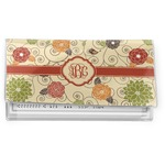 Fall Flowers Vinyl Checkbook Cover (Personalized)