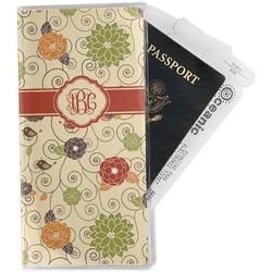 Fall Flowers Travel Document Holder