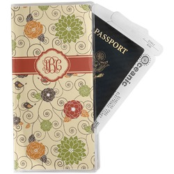 Fall Flowers Travel Document Holder