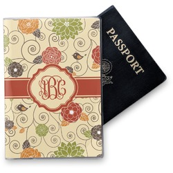 Fall Flowers Vinyl Passport Holder (Personalized)