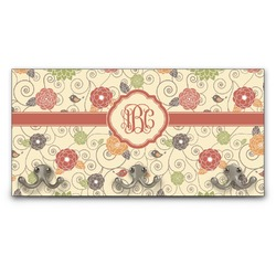 Fall Flowers Wall Mounted Coat Rack (Personalized)