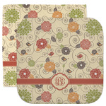 Fall Flowers Facecloth / Wash Cloth (Personalized)