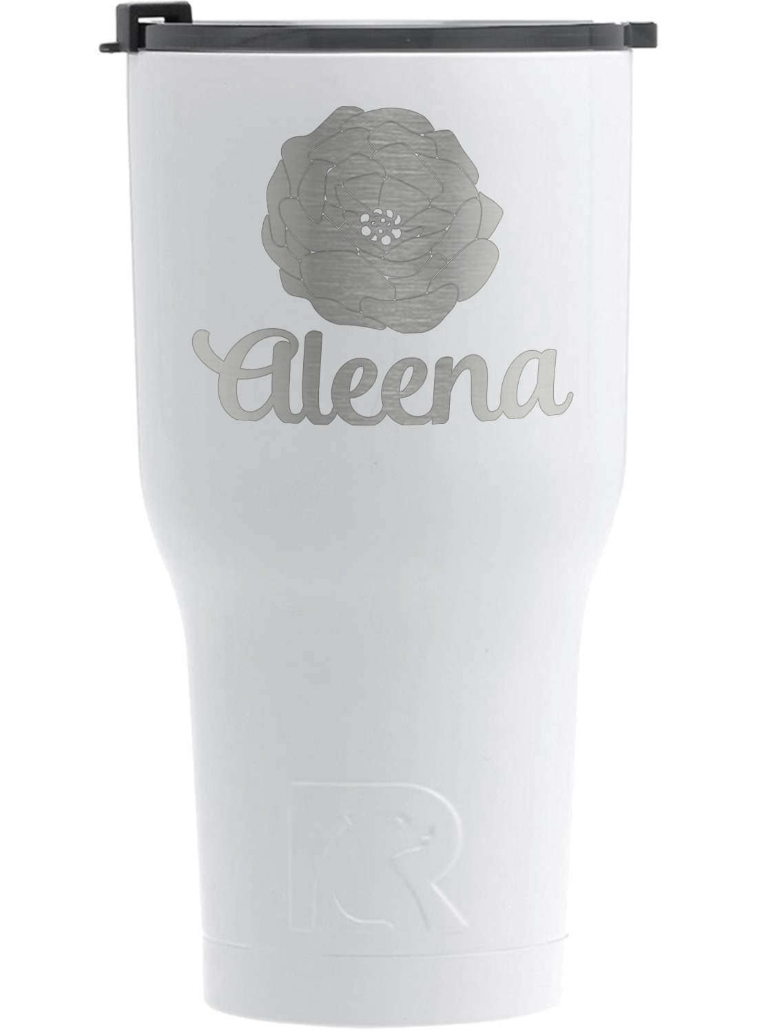 Fall Flowers Rtic Tumbler White Personalized Youcustomizeit