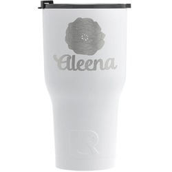 Fall Flowers RTIC Tumbler - White - Engraved Front (Personalized)