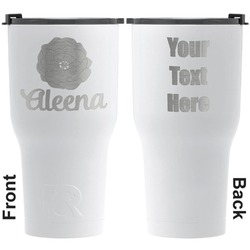 Fall Flowers RTIC Tumbler - White - Engraved Front & Back (Personalized)
