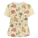 Fall Flowers Women's Crew T-Shirt (Personalized)