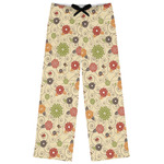 Fall Flowers Womens Pajama Pants (Personalized)