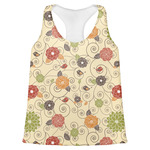 Fall Flowers Womens Racerback Tank Top (Personalized)