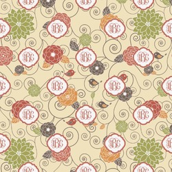 Fall Flowers Wrapping Paper (Personalized)