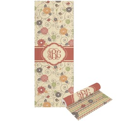 Fall Flowers Yoga Mat - Printable Front and Back (Personalized)