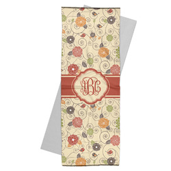 Fall Flowers Yoga Mat Towel (Personalized)