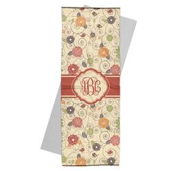 Fall Flowers Yoga Mat Towel (Personalized)