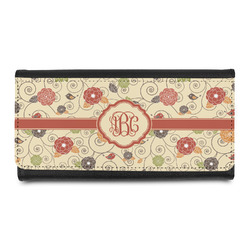 Fall Flowers Leatherette Ladies Wallet (Personalized)