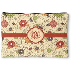 Fall Flowers Zipper Pouch (Personalized)