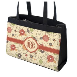 Fall Flowers Zippered Everyday Tote (Personalized)