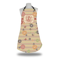 Chevron & Fall Flowers Apron (Personalized)