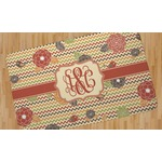 Chevron & Fall Flowers Area Rug (Personalized)