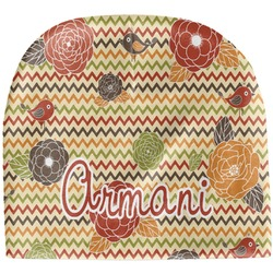 Chevron & Fall Flowers Baby Hat (Beanie) (Personalized)