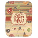 Chevron & Fall Flowers Baby Swaddling Blanket (Personalized)