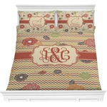 Chevron & Fall Flowers Comforter Set (Personalized)