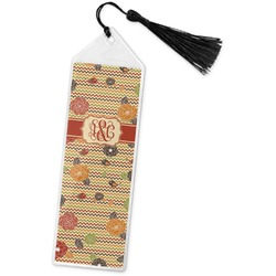 Chevron & Fall Flowers Book Mark w/Tassel (Personalized)