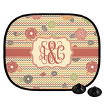 Chevron & Fall Flowers Car Side Window Sun Shade (Personalized)