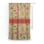 Chevron & Fall Flowers Curtain (Personalized)