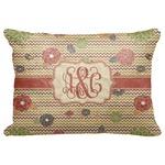 "Chevron & Fall Flowers Decorative Baby Pillowcase - 16""x12"" (Personalized)"