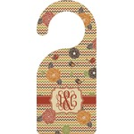 Chevron & Fall Flowers Door Hanger (Personalized)