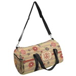 Chevron & Fall Flowers Duffel Bag (Personalized)
