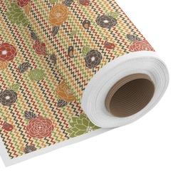 Chevron & Fall Flowers Custom Fabric - PIMA Combed Cotton (Personalized)