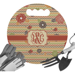 Chevron & Fall Flowers Gardening Knee Cushion (Personalized)