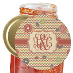 Chevron & Fall Flowers Jar Opener (Personalized)