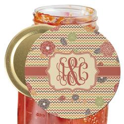 Chevron & Fall Flowers Jar Opener (Personalized)